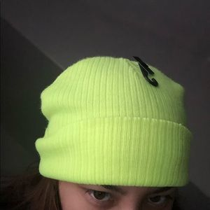 Forever 21 Neon yellow beanie hat